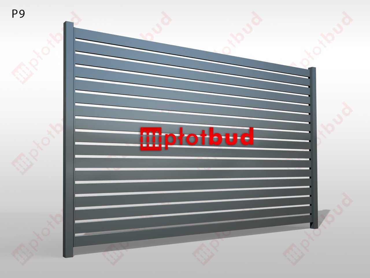 Panel palisadowy aluminiowy - Typ P9